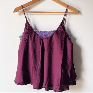 Free People plum sequin Turn It On Camisole small